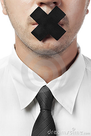 Free Man In Shirt And Tie With Closed Mouth Isolated Royalty Free Stock Images - 20788399