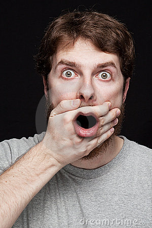 Free Man In Shock After Finding Secret News Royalty Free Stock Photography - 18876427