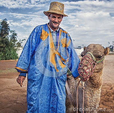 Free Man In Traditionally Moroccan Clothes. Stock Photography - 109085252