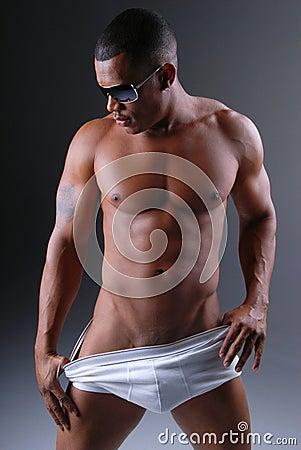Free Man In Underwear. Royalty Free Stock Photo - 7474085