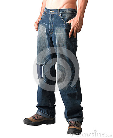 A man with jeans