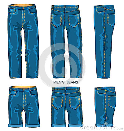 Free Man Jeans Pants And Shorts Stock Photo - 41266850
