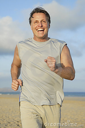 Man jogging.
