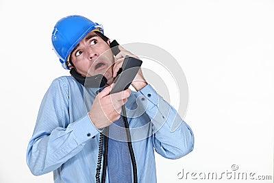 Man juggling calls