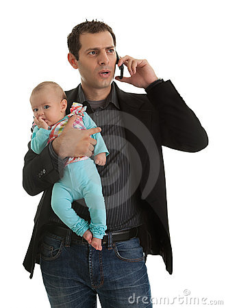 Free Man Juggling In Being Businessman And A Father Royalty Free Stock Images - 21674429