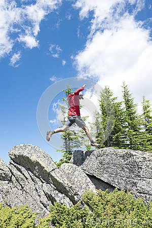 Free Man Jumping Royalty Free Stock Photo - 67419375