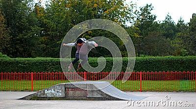 Man Jumping On Rollerskates Ramp Free Public Domain Cc0 Image