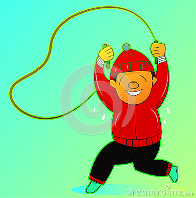 Man Jumping Rope Exercise