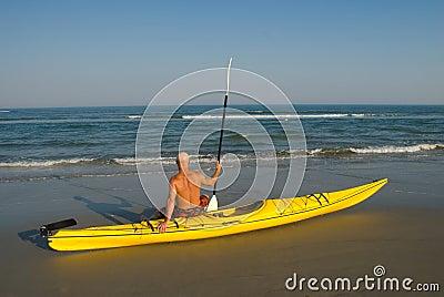 Man with Kayak