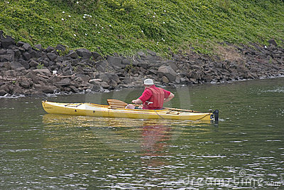 Man in Kayak.