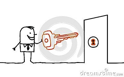 Man & key