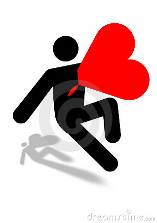 Man killed with love icon graphic