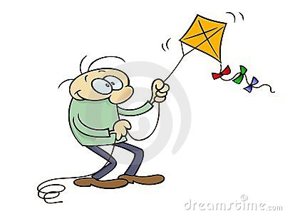 Man with kite