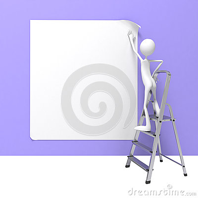 Man on Ladder.