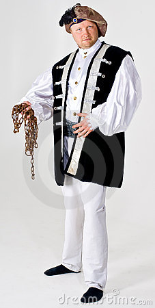 Man in landlord costume