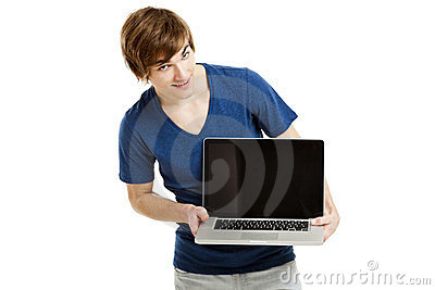 Man with a laptop