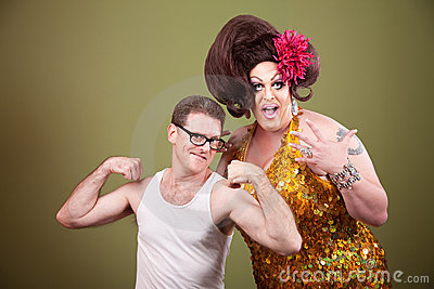 Man With Large Drag Queen