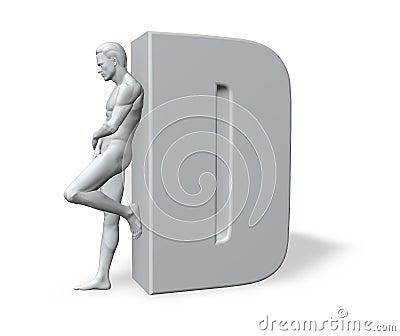Man leans on D