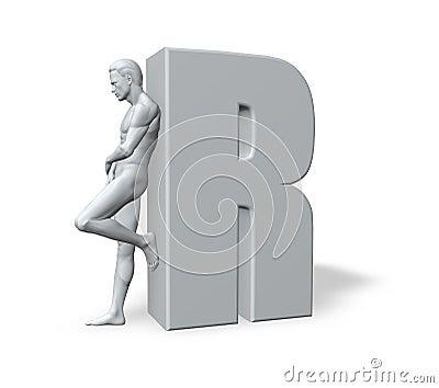 Man leans on R