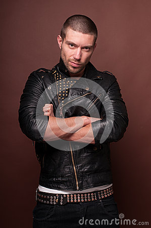 Man in Leather Jacket