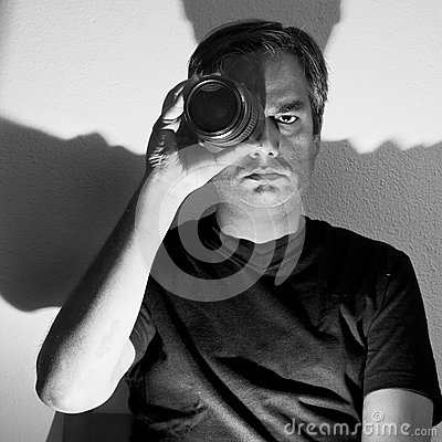 Man with lens
