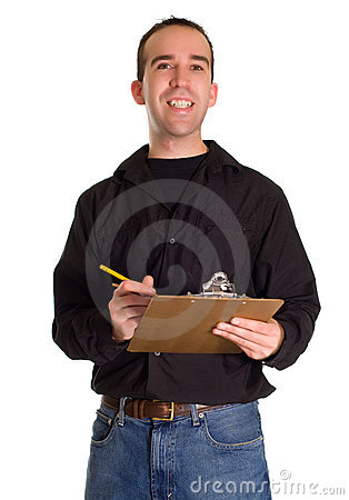 Man With List