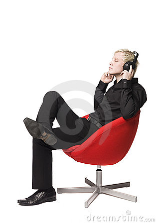Free Man Listen To Music Royalty Free Stock Photos - 8590658