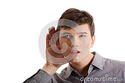 Man listening gossip