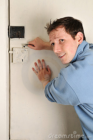 Man locked out of room