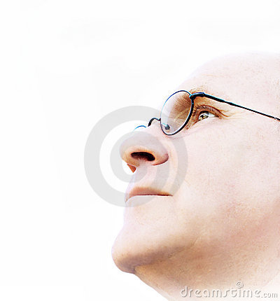 Free Man Looking For A Vision Royalty Free Stock Photography - 3009187