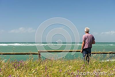 Man looking at the sea