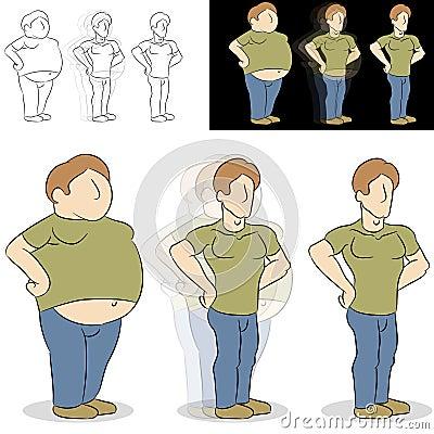 Man Losing Weight Transformation