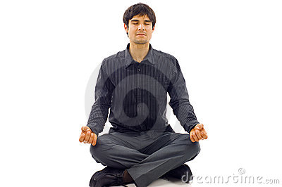Man in Lotus Position