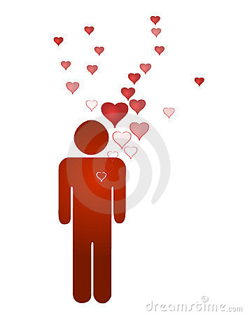 Free Man Lover And Emerging Hearts Stock Images - 8504034