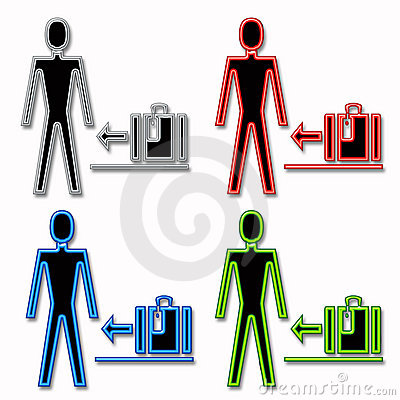 Man and Luggage Icons