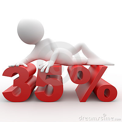 Man lying on the 35 percent