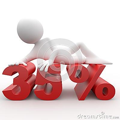 Man lying on the 35 percent