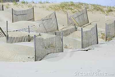 Man Made Dunes Stock Photo  Image: 7306180