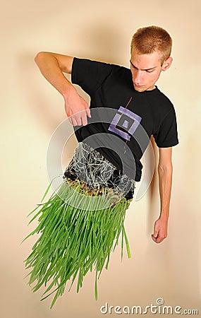 Man made of Grass