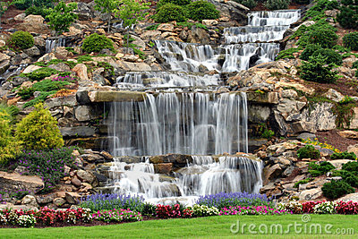 Man made waterfall royalty free stock photos image 5880028 for 3d dreams fort mill sc