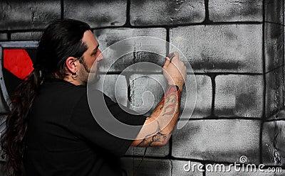 A man make a drawing