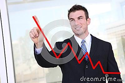 Man Making Graph Chart