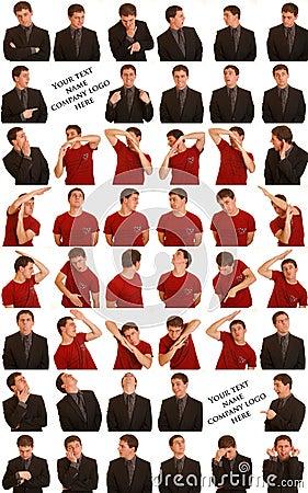 Free Man Making Heart Shape Stock Photography - 17742562