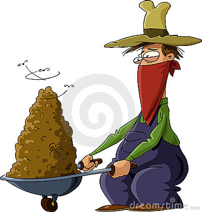 Man with manure