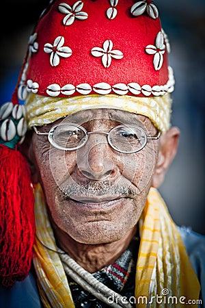 Man in marrakesh square 3 Editorial Image