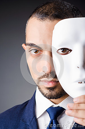 Man with masks