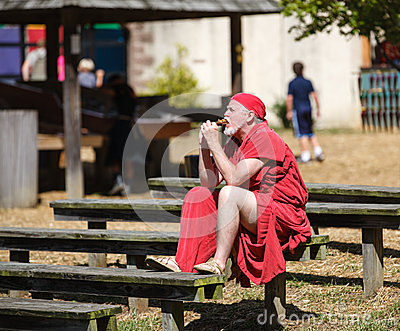 Man in Medieval Costume Renaissance Festival Editorial Stock Image