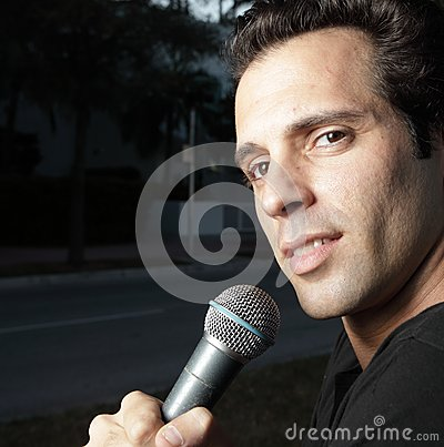 Man with a mic