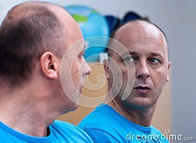 Man on the mirror