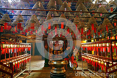 Man mo temple, hong kong Editorial Stock Photo